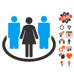 society icon with love bonus vector image