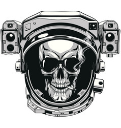 Skull in a spacesuit vector
