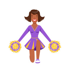 smiling girl teenager dancing with colorful vector image