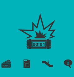 Big bang flash icon flat vector
