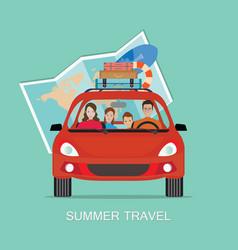 Planning summer vacations vector