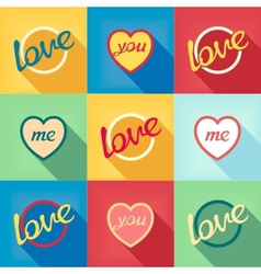 Pop-art style card symbol of love vector