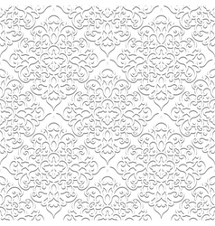 White seamless pattern vector image