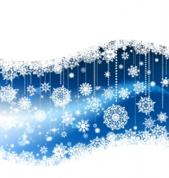 Christmas snowflakes banner vector