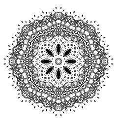 Beautiful deco black mandala vector