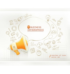 Marketing and promotion business infographics set vector