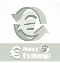 Euro symbol in grey vector image