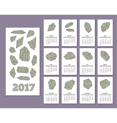 Monthly wall calendar for year 2017 vector