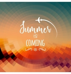 Summer is coming background summer travel rest vector