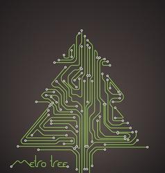 Abstract metro scheme christmas card vector image