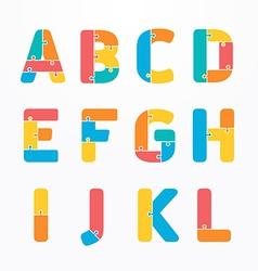Alphabet jigsaw concept vector