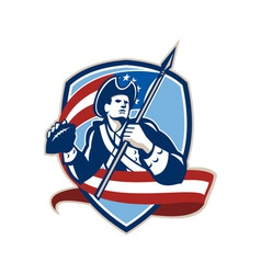 American patriot football quarterback shield vector