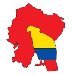 Andean condor ecuador vector
