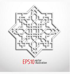 arabesque design in 3d eastern pattern sacral vector image