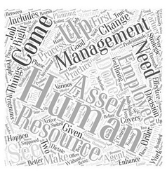 Asset management and human resource management vector