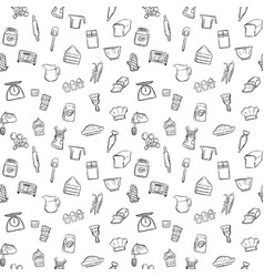 baking tools seamless pattern background set vector image