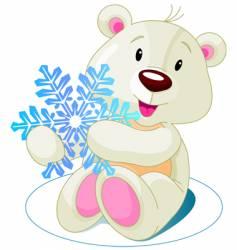 Bear snow vector