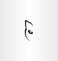 black cat logo icon symbol vector image vector image