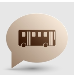 Bus simple sign brown gradient icon on bubble vector