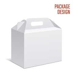 Clear Gift Carton Box vector image vector image