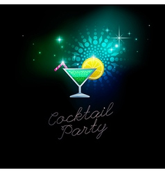 Coctail party green vector
