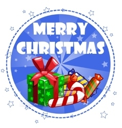 Collection greeting card with merry christmas vector