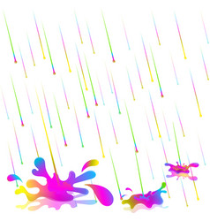 colorful rain drops isolate vector image