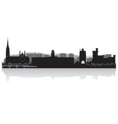 Cork city skyline silhouette vector image vector image