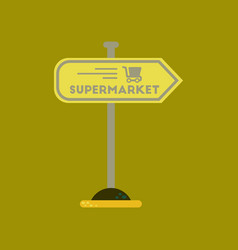 Flat icon on background supermarket sign vector
