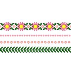 Floral garland pink vector