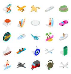 Gamble icons set isometric style vector