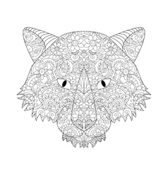 Good wolf head coloring for adults vector