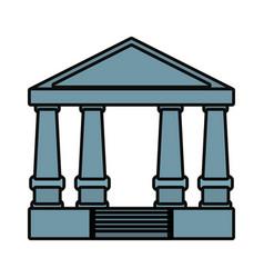 Justice court building icon vector