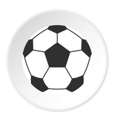 leather soccer ball icon circle vector image vector image