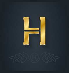 Letter h template for company logo with monogram vector