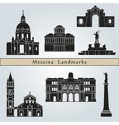 Messina landmarks and monuments vector image vector image