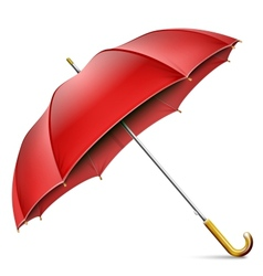 Realistic Open Red Umbrella vector image