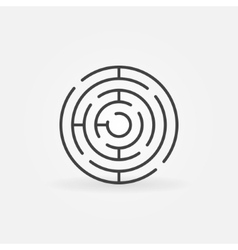 Round maze line icon vector image vector image