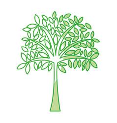 Shadow tree cartoon vector