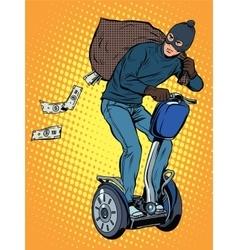 Tech stealing money vector