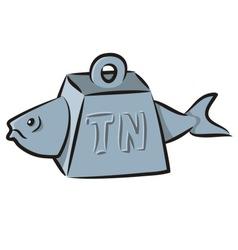 tuna fish cartoon vector image vector image