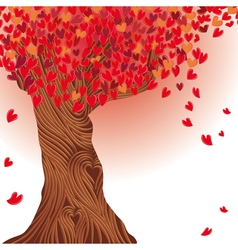 Valentine tree heart vector