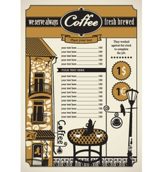 Outdoor cafes vector