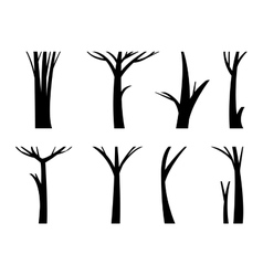 tree trunk vector image