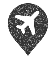 Airport Map Marker Icon Rubber Stamp vector image