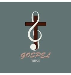 Logo Gospel Music vector image