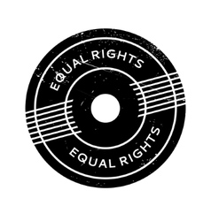 Equal rights rubber stamp vector