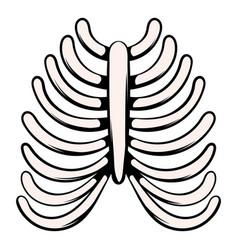 Human rib cage icon icon cartoon vector