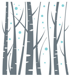 birch flat on white background vector image