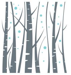 Birch flat on white background vector